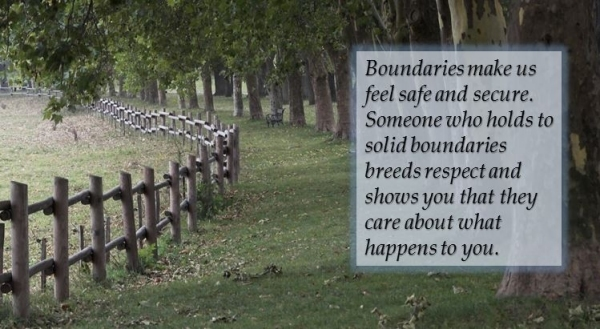 boundaries make us feel safe