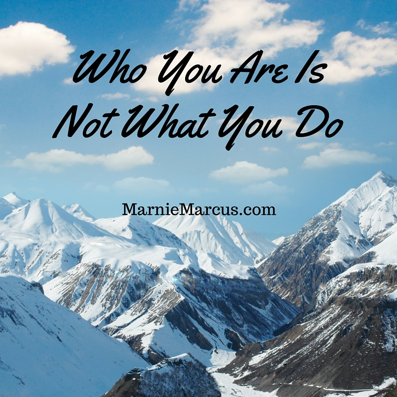 Who You Are Is Not What You Do